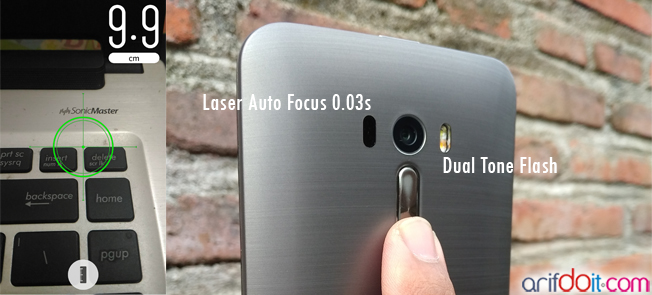 Laser auto focus dengan kecepatan hingga 0,03 s