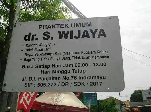 dr. S. Wijaya, Buka Praktek Tanpa Tarif.. Bikin Netizen Terkagum-Kagum