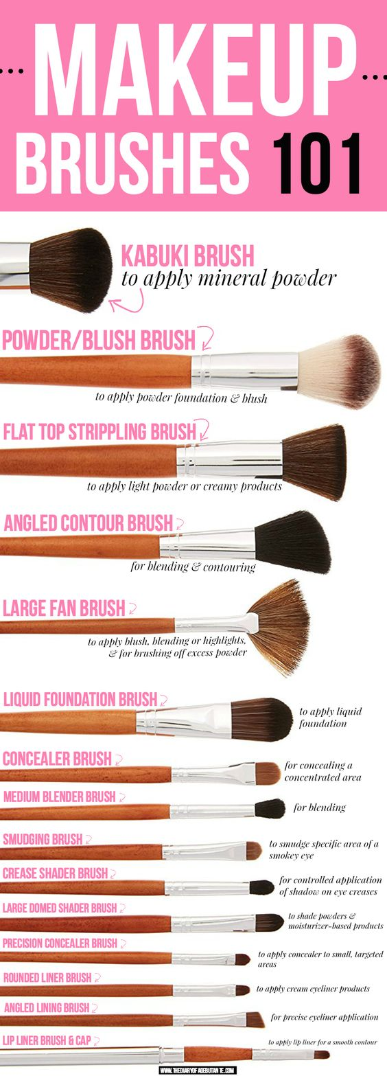 15 MUST-HAVE MAKEUP BRUSHES (AND HOW TO USE THEM)