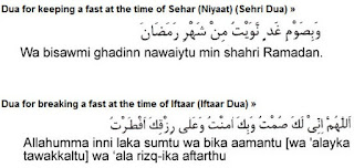 Dua (pray) for keeping and breaking fast (Niyat) In Ramadhan