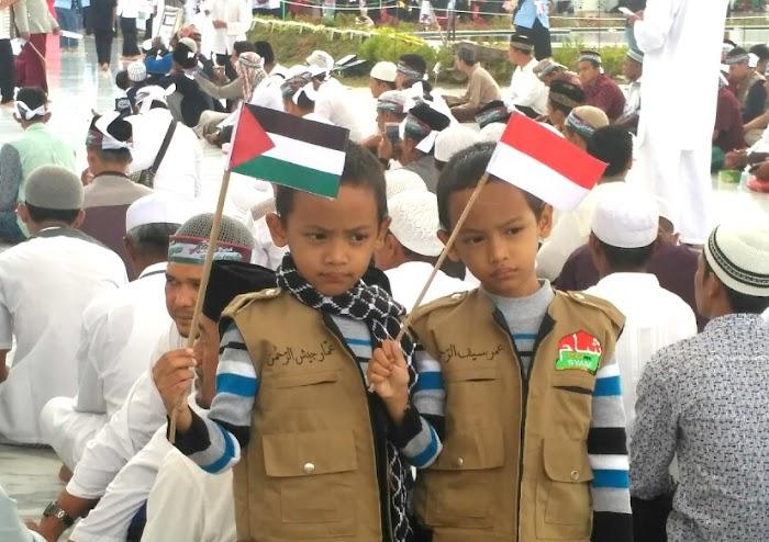 Seruan Anak Aceh Ramaikan Tabligh Akbar Aceh - Palestina