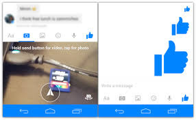 How to send a big thumbs up with Facebook Messenger
