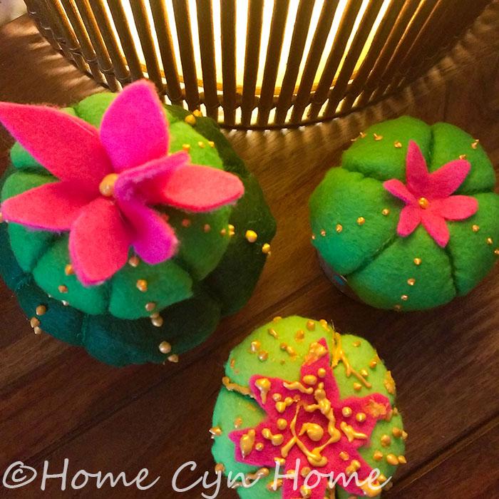 Cute And Easy Felt Cactus Diy Home Cyn Home
