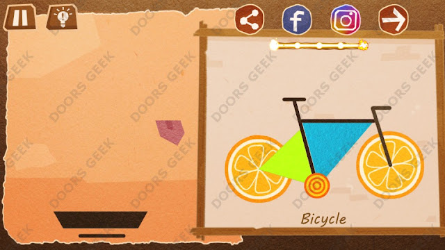 Chigiri: Paper Puzzle Master Level 5 (Bicycle) Solution, Walkthrough, Cheats