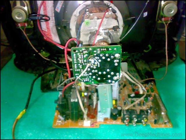 Perbaikan Mesin TV VORTEX 14-Inch Picatto MHDY 143DX - Gambar Blanking Merah