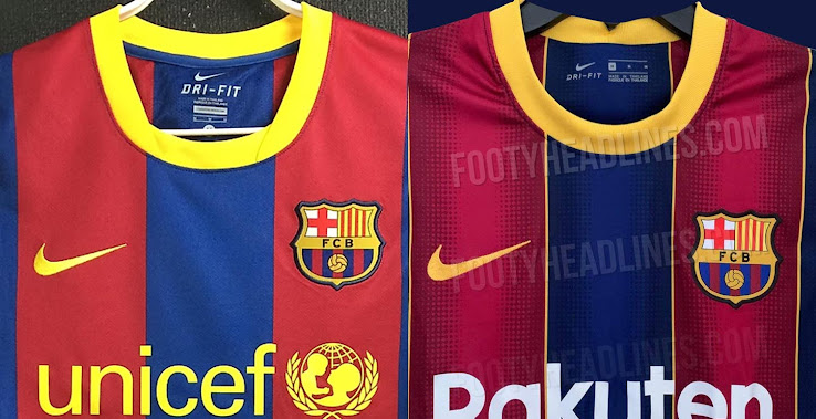 Maravilloso sabio tarde  FC Barcelona 20-21 vs 10-11 Home Kit - 10 Years Champions League Title  Anniversary - Footy Headlines