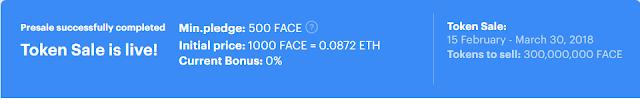 NHận 100 token FACEter + Free Token Thrive