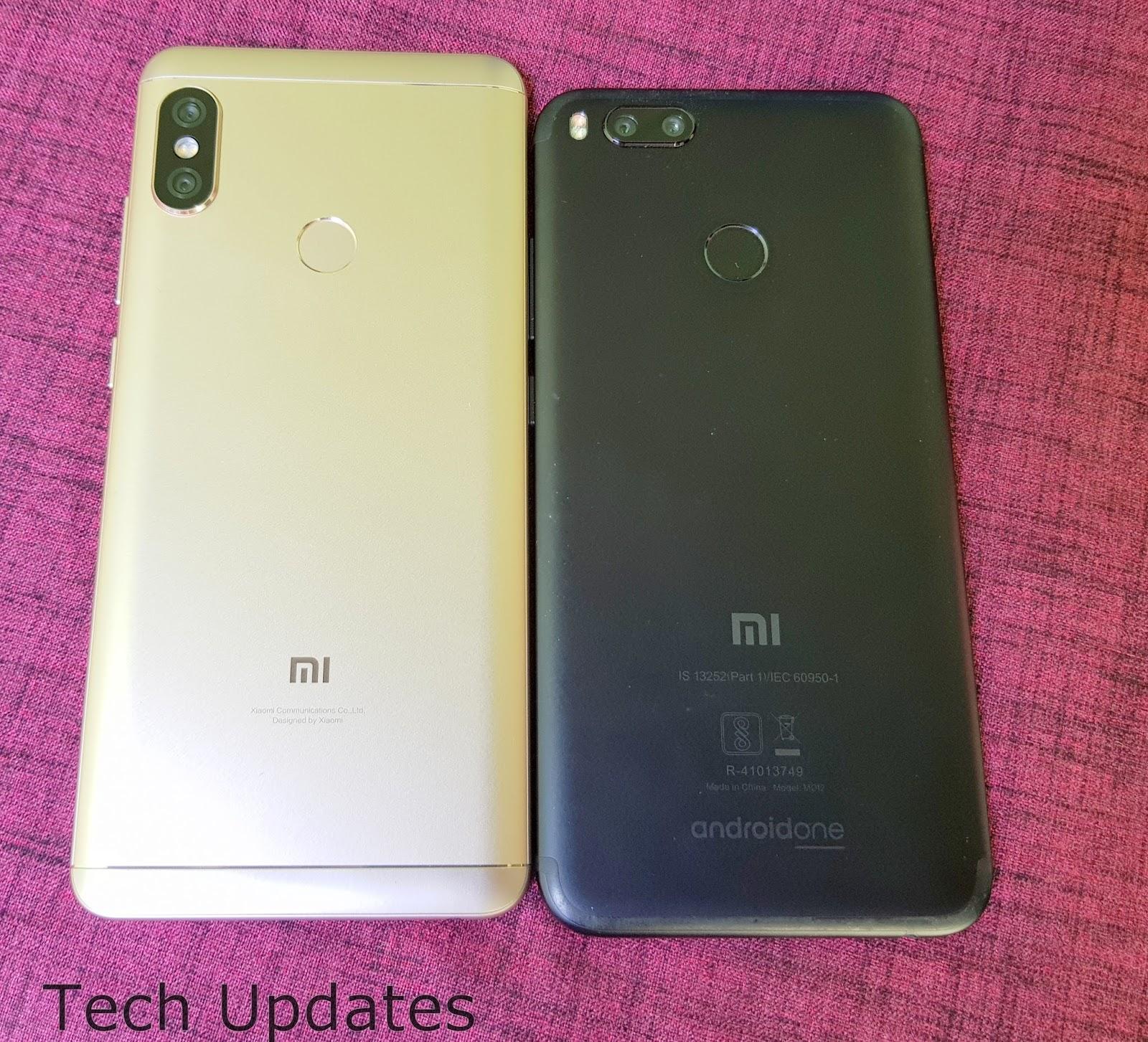 Xiaomi Redmi Note 5 Pro vs Xiaomi Mi A1 Tech Updates