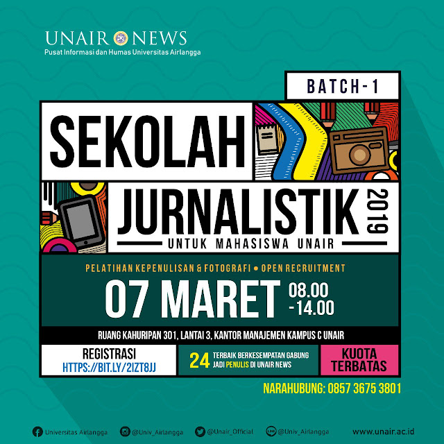 Sekolah Jurnalistik 2019 Untuk Mahasiswa Unair