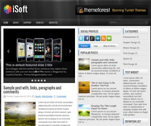 iSoft 3 Column Blogger Template
