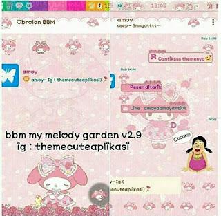 BBM Mod My Melody Garden
