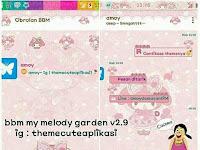 BBM Mod My Melody Garden V2.9 Apk