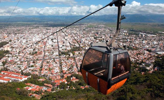 Cerro San Bernardo - Salta - Teleférico