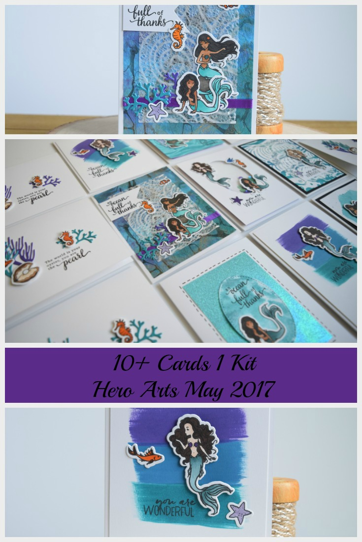 Sea Creature Cards by Jess Crafts using Hero Arts May 2017 Card Kit