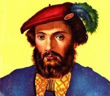 Rostro de Américo Vespucio a color
