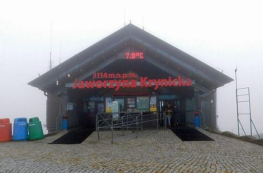 Górna stacja kolejki gondolowej na Jaworzynie Krynickiej.