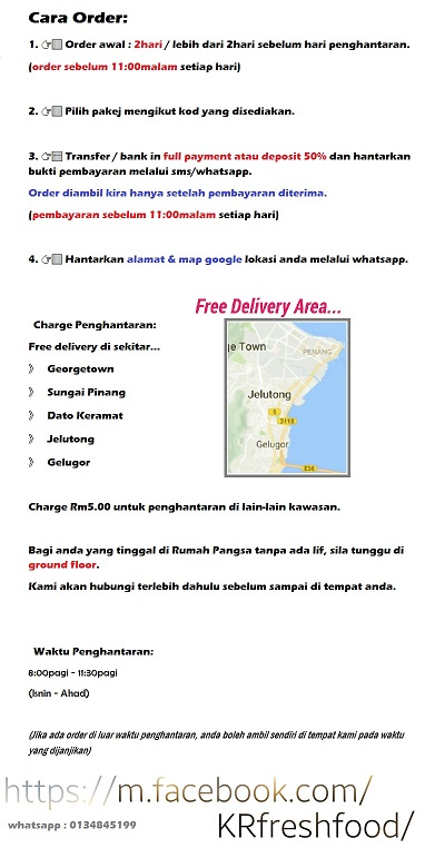 Penang Fresh Food Delivery