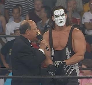 WCW Fall Brawl 1999 - Mean Gene Okerlund interviews Sting