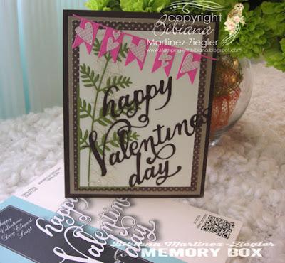 masculine valentine card front