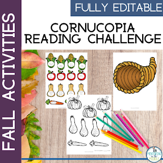 Cornucopia Reading Activity
