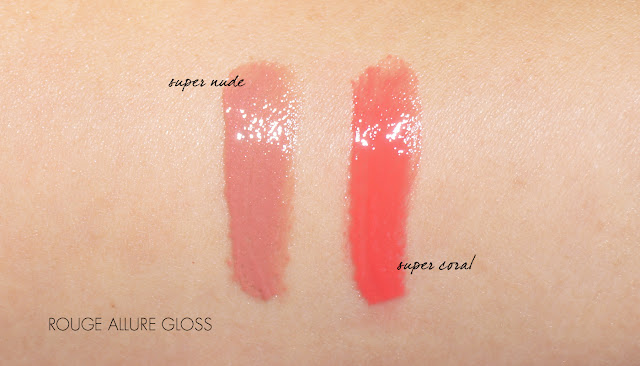 The Beauty Look Book - Chanel Rouge Allure Gloss Super Nude and Super Coral