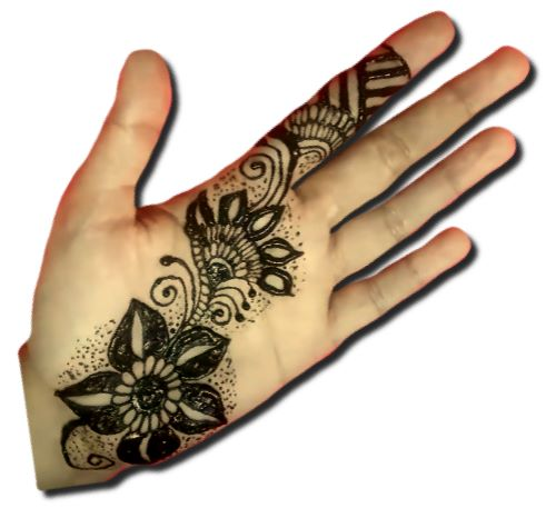 Girls Special Mehndi Designs for Front Hand