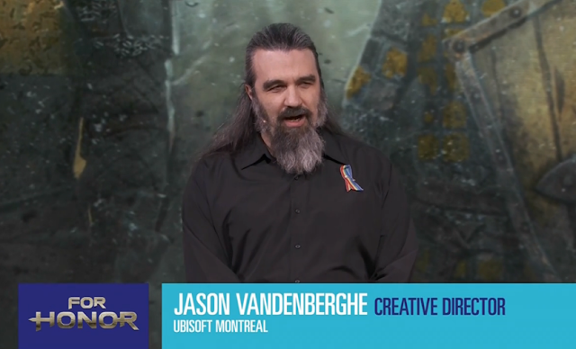 Jason Vandenberghe Ubisoft Montreal creative director For Honor beard Viking guy