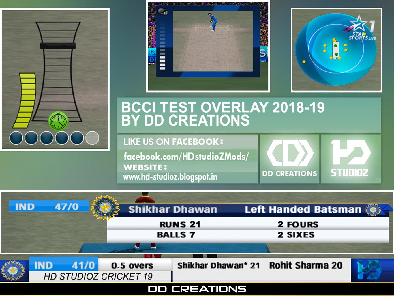 Bcci Odi Test Overlay Menu 2018
