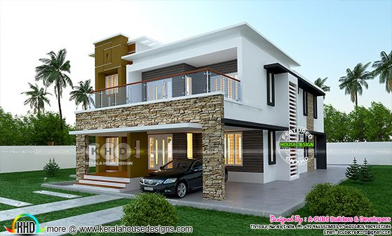 Modern 4 bedroom home plan 3707 sq-ft