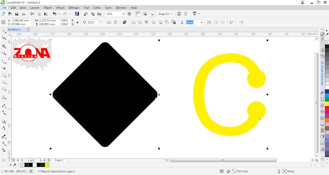 Cara Membuat Logo Carrefour dengan Corel Draw X7
