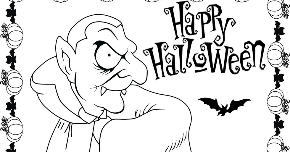 Halloween dracula coloring pages minister coloring for Halloween vampire coloring pages