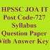 HPSSC JOA IT, Post Code-727, Syllabus, Question Paper