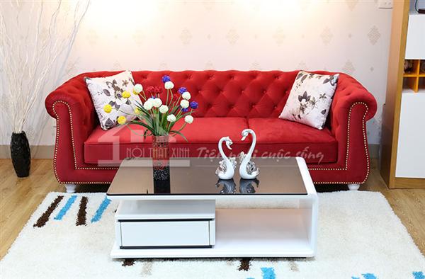 Ghế sofa tông màu rực rỡ