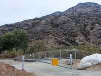 Old Fish Canyon trailhead on Fish Canon Road, now closed