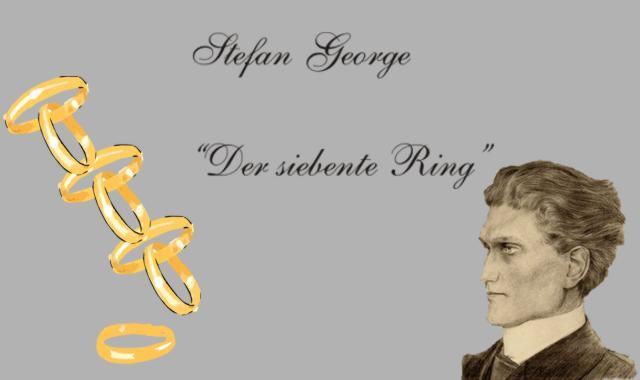 Stefan George- 7 Ringe ineinander geschlungen