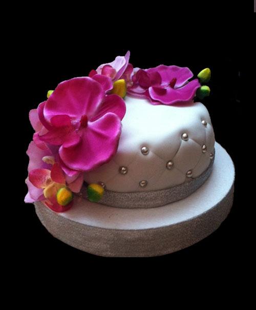 Gateau D Anniversaire Orchidee Mam Zelle Cakes