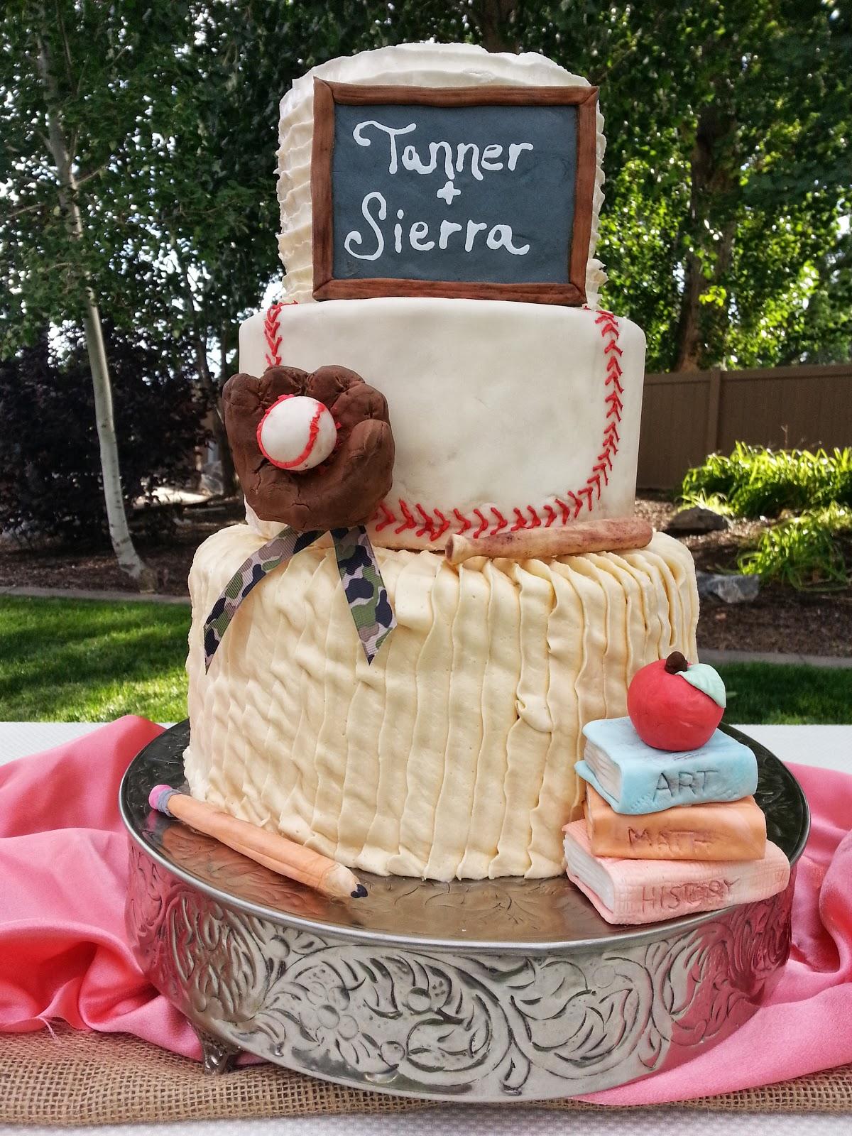 Cakes By Carla Teacher And Baseball Themed Wedding Cake