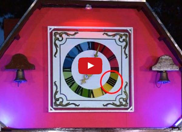 Adán Chavez inaugura reloj en Mérida con los números romanos mal escritos