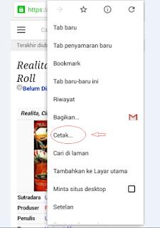Cara convert halaman web ke pdf di android dengan google chrome