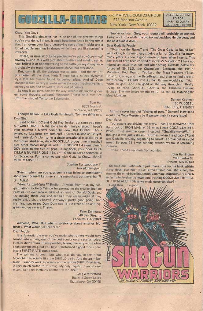 Godzilla (1977) Issue #22 #22 - English 18