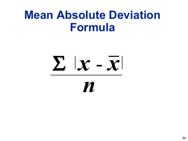 Standard Deviation versus Absolute Mean Deviation