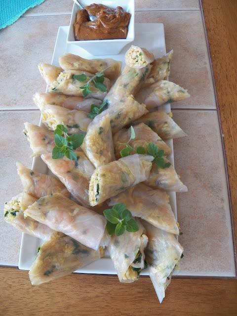 Yakisoba Noodle Spring Rolls
