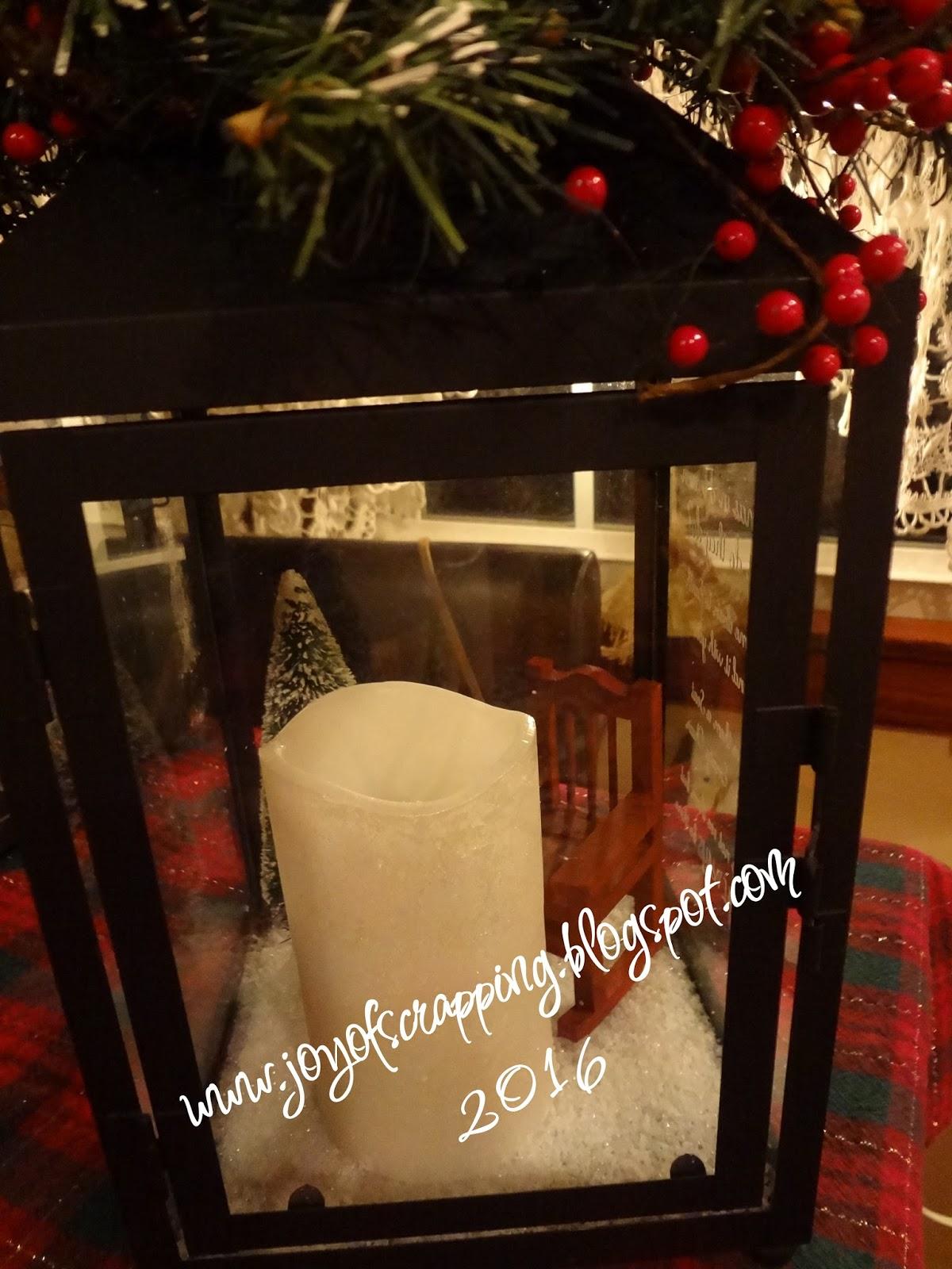Christmas In Heaven Lantern.The Joy Of Scrapping Christmas In Heaven Lantern With Candle