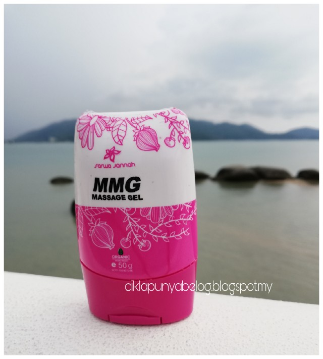 MMG MASSAGE GEL, membantu mengurangkan rasa pening dan mabuk laut.