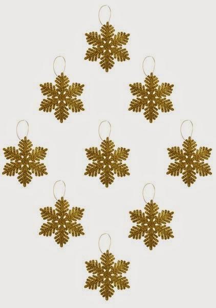 Decoración de Navidad en dorado de Primark