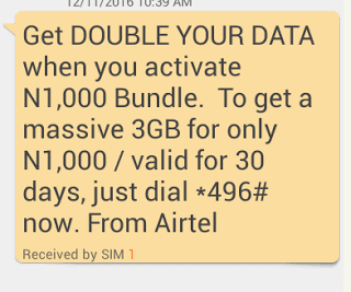 Ways to Sub For New Airtel Double Data Plan