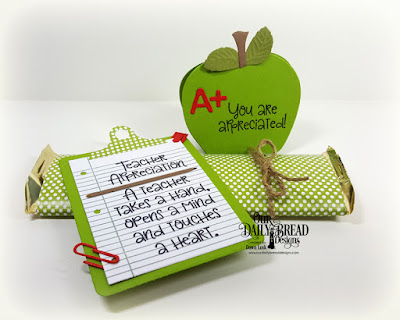 Our Daily Bread Designs Stamp Set: Class Act, Custom Dies: Clipboard Set, A+ Apples, Paper Collection: Birthday Brights