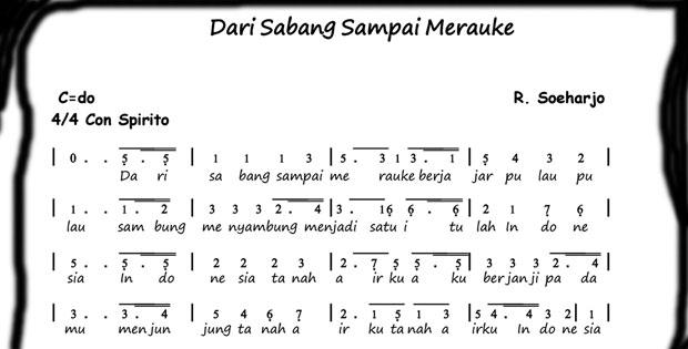 Lirik Lagu Dari Sabang Sampai Merauke R. Suharjo