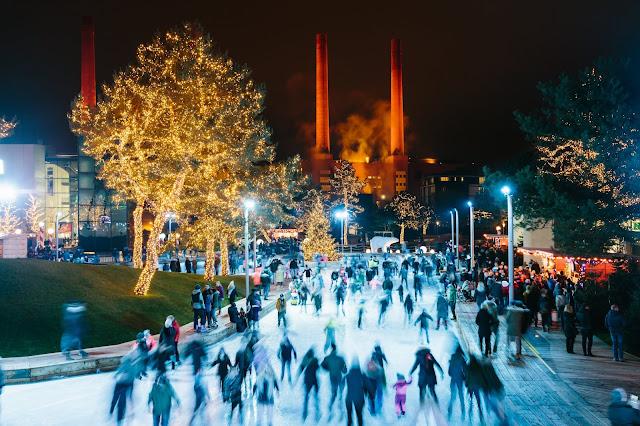 Winterwelt in der Autostadt Wolfsburg