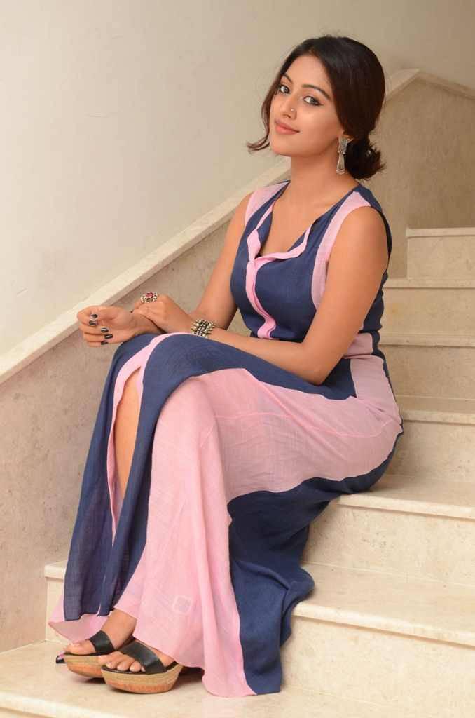 Actress Anu Emmanuel Photoshoot In Blue Dress